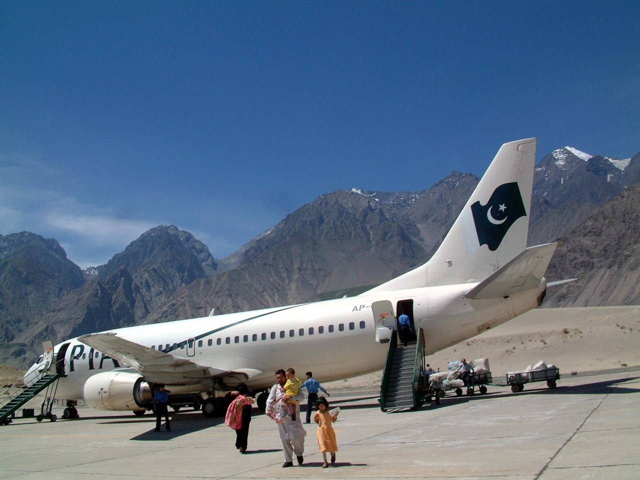 Fénykép karakoram K-2 Flights Northern Pakistan Skardu City Air port