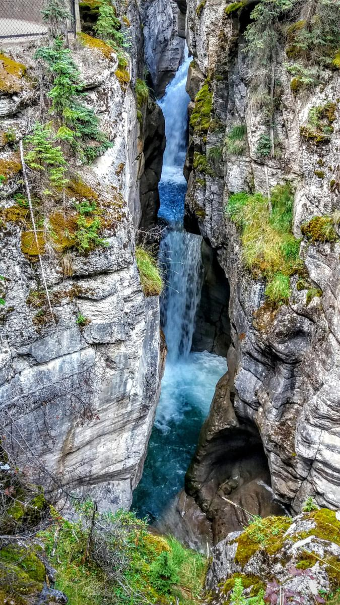 Foto di Maligne canyon. Jasper National Park.
