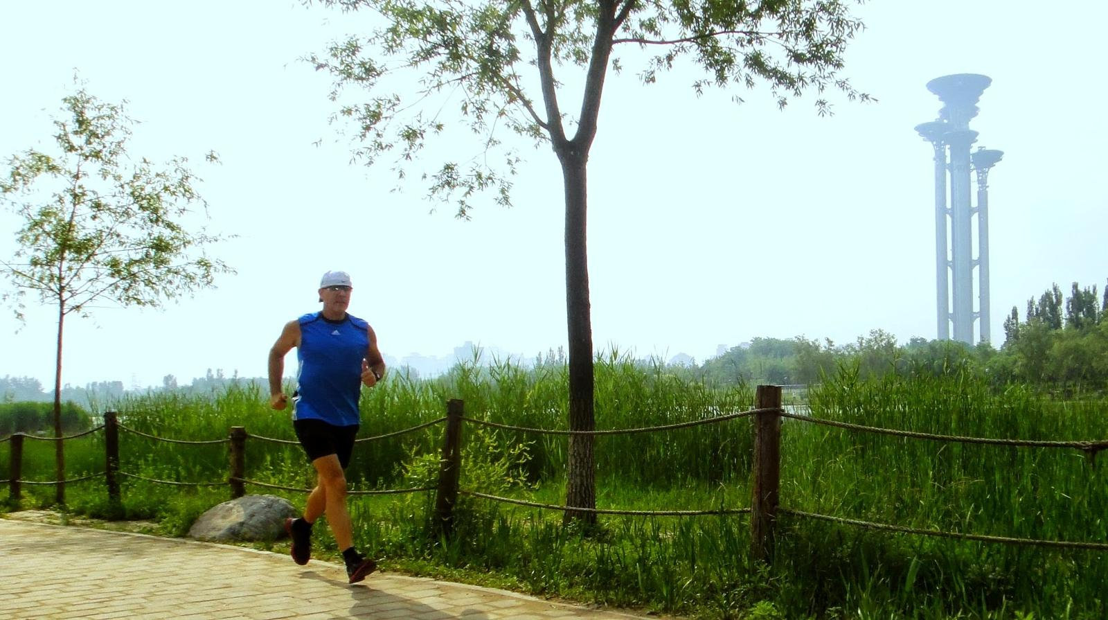 Photo of 10.1 km Beijng, Olympic Forest Park, China 5-25-13 (Jon De Leon)