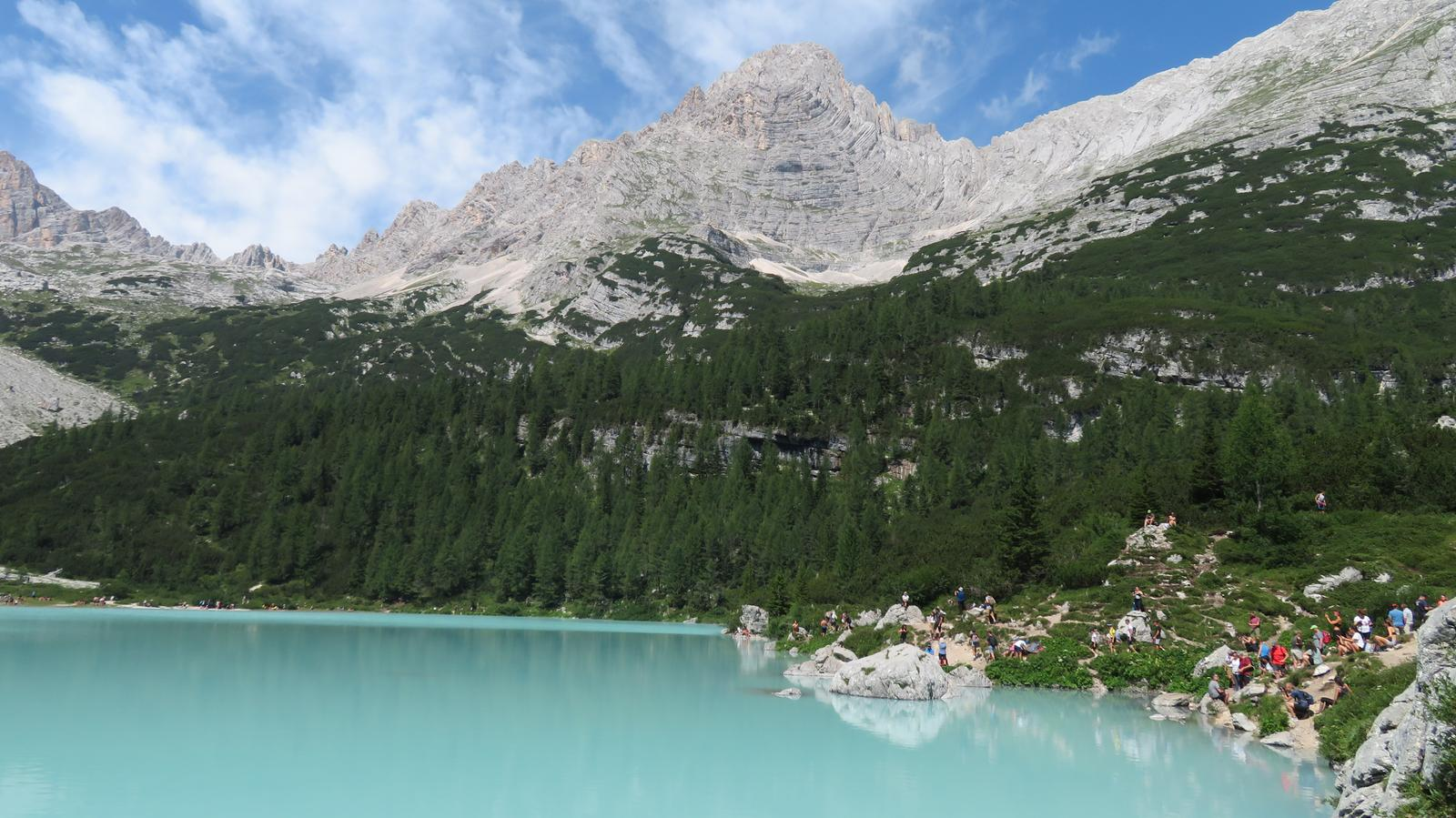 Photo of Il Lago del Sorapiss via Forcella Marcuoira dal Passo Tre Croci